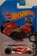 Tomb Up | Model Cars | HW 2017 - Collector # 032/365 - Fright Cars 2/5 - Tomb Up - Red - USA Factory Set Sticker Card