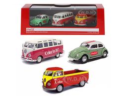 Volkswagen Coca Cola 3 Piece Gift Set | Model Vehicle Sets