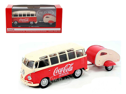 1962 Volkswagen Samba Bus With Trailer | Model Vehicle Sets