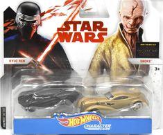 Kylo Ren & Snoke   Model Vehicle Sets   Hot Wheels Star Wars Kylo Ren & Snoke Character Cars