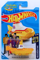 The Beatles Yellow Submarine | Model Ships and Other Watercraft | HW 2018 - Collector # 026/365 - HW Screen Time 6/10 - The Beatles Yellow Submarine - Yellow - International Long Card