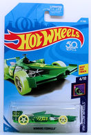Winning Formula | Model Racing Cars | HW 2018 - Collector # 037/365 - HW Glow Wheels 4/10 - Winning Formula - Green - USA Card