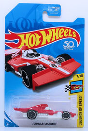 Formula Flashback | Model Racing Cars | HW 2018 - Kmart Exclusive - Legends of Speed 7/10 - Formula Flashback - Red - USA Card