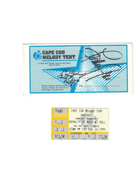 """Leslie Gore signed 1994 """"Royalty and Rock and Roll Concert Ticket 