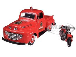 1948 Ford F-1 Pickup with 1936 El Knucklehead Harley-Davidson | Model Vehicle Sets