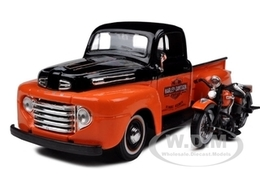 1948 Ford F-1 Pickup with 1948 Harley-Davidson FL Panhead Motorcycle | Model Vehicle Sets