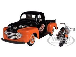 1948 Ford F-1 Pickup With 1958 FLH Duo Glide Harley-Davidson Motorcycle | Model Vehicle Sets