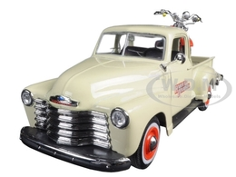 1950 Chevrolet 3100 Pickup with 2001 FLSTS Heritage Springer Motorcycle | Model Trucks