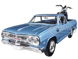 1965 Chevrolet El Camino with 2007 Harley Davidson XL 1200N Nightster Motorcycle | Model Vehicle Sets