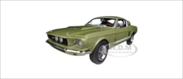 1967 Ford Shelby Mustang GT 500 Light Green Limited Edition | Model Cars