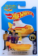 The Beatles Yellow Submarine | Model Ships and Other Watercraft | HW 2016 - Collector #225/250 - HW Screen Time 5/5 - The Beatles Yellow Submarine - New Casting - International Long Card