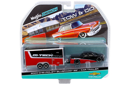 2004 Chevrolet Silverado SS & Car Trailer | Model Vehicle Sets