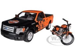 2010 Ford F-150 STX Pickup with 2007 XL1200N Nightster Harley | Model Vehicle Sets