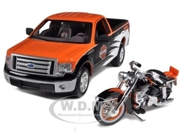 2010 Ford F-150 STX Pickup with 1958 FLH Duo Glide Motorcycle | Model Vehicle Sets