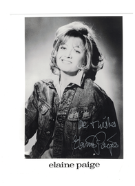 Elaine Paige--{Cats--Evita} Autograph with C.O.A. | Posters & Prints