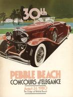 30th Pebble Beach Concours d'Elegance (1980) | Event Programs