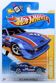 Mazda RX-7 | Model Cars | HW 2012 - Collector # 031/247 - New Models 31/50 - Mazda RX-7 (Race Car) - Blue - USA Scan & Track Card