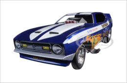 1971 Ford Mustang Blue Max Richard Tharp Funny Car Limited Edition | Model Cars