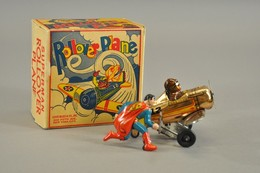 Superman Rollover Plane | Tinplate & Pressed Steel Toys