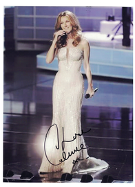 Celine Dion Signed Autograph With C.O.A. | Posters & Prints