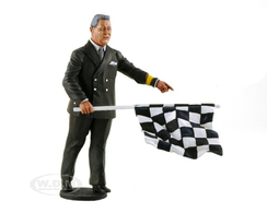 1950-1970's Director of the Course with Checker Flag | Figures & Toy Soldiers