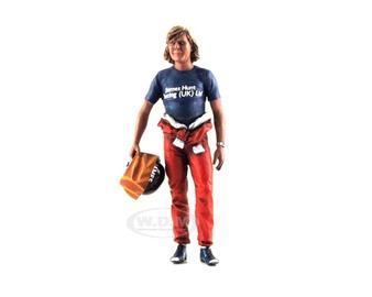 1977 Monaco GP James Hunt Holding Helmet | Figures & Toy Soldiers