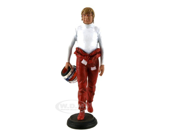 1980's Didier Pironi in Racing Suit Holding Helmet | Figures & Toy Soldiers