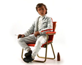 1960s Jochen Rindt with Campsite Seat and Soda Bottle | Figures & Toy Soldiers