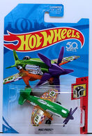 Mad Propz | Model Aircraft | HW 2018 - Collector # NONE - HW Daredevils 4/5 - Mad Propz - Green & Orange - USA '50th' Card