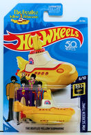 The Beatles Yellow Submarine | Model Ships and Other Watercraft | HW 2018 - Collector # 026/365 - HW Screen Time 6/10 - The Beatles Yellow Submarine - Yellow - USA Card with 50th Anniversary Logo