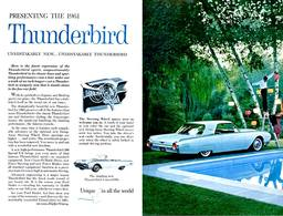 Presenting The 1961 Thunderbird | Print Ads