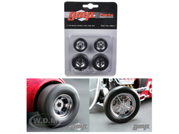 Chromed Hot Rod Drag Wheels and Tires | Model Spare Parts
