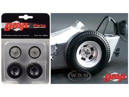 The Chizler V Vintage Dragster Wheels and Tires Set   Model Spare Parts