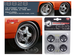 """1970 Plymouth Road Runner """"The Hammer"""" Wheel and Tire Set   Model Spare Parts"""