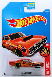 HOT WHEELS 68 Dodge Dart HW Flames 8//10 1:64 249//365 2017 nouveau
