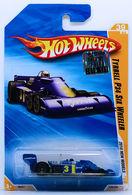 Tyrrell P34 Six Wheeler | Model Racing Cars | HW 2010 - Collector # 039/240 - New Models 39/44 - Tyrrell P34 Six Wheeler - Blue - USA Card with Factory Set Sticker