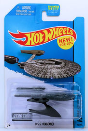 U.S.S. Vengeance | Model Spacecraft | HW 2014 - Collector # 075/250 - HW City / Planet Heroes / New Models - U.S.S. Vengeance - Gray - USA Card