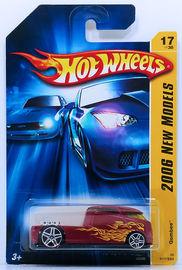 Qombee | Model Trucks | HW 2006 - Collector # 017/223 - New Models 17/38 - Qombee - Red - USA '07 Card