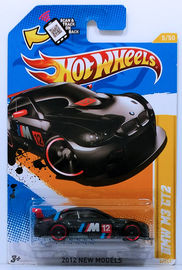 BMW M3 GT2 | Model Racing Cars | HW 2012 - Collector # 005/247 - New Models 5/50 - BMW M3 GT2 - Black - USA Scan & Track Card