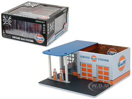 Gulf Oil Vintage Gas Station   Model Buildings and Structures