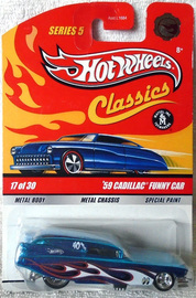 '59 Cadillac Funny Car | Model Cars | Spectraflame Blue, with Real Riders (RR) wheels (Chase)