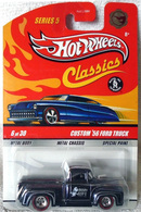 Custom '56 Ford Truck | Model Trucks | Spectraflame Black, with Real Riders (RR) wheels (Chase)