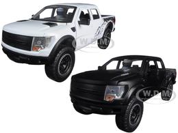 2011 Ford 150 SVT White and Black Raptors | Model Vehicle Sets