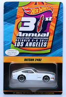 Datsun 240Z - with Sticker | Model Cars | HW 2017 - 31st Annual Collectors Convention / Dinner Car - Datsun 240Z - White - Real Riders - With Sticker - Limited to 1,600