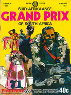 Suid-Afrikaanse Grand Prix of South Africa 1971 | Event Programs