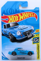 Fairlady 2000 | Model Racing Cars | HW 2018 - Collector # 055/365 - HW Speed Graphics 3/10 - Fairlady 2000 - Blue - International Long Card