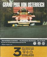 Grand Prix von Österreich 1970 | Event Programs