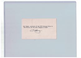 "Carl Sagan ""ASTRONOMER"" Signed Autograph 