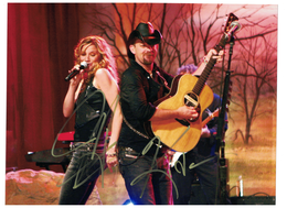 "Sugarland Band ""Jennifer Nettles and Kristian Bush"" signed with C.O.A. 