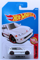 '90 Honda Civic EF | Model Cars | HW 2017 - Collector # 330/365 - Then And Now 2/10 - '90 Honda Civic EF - White - International Long Card